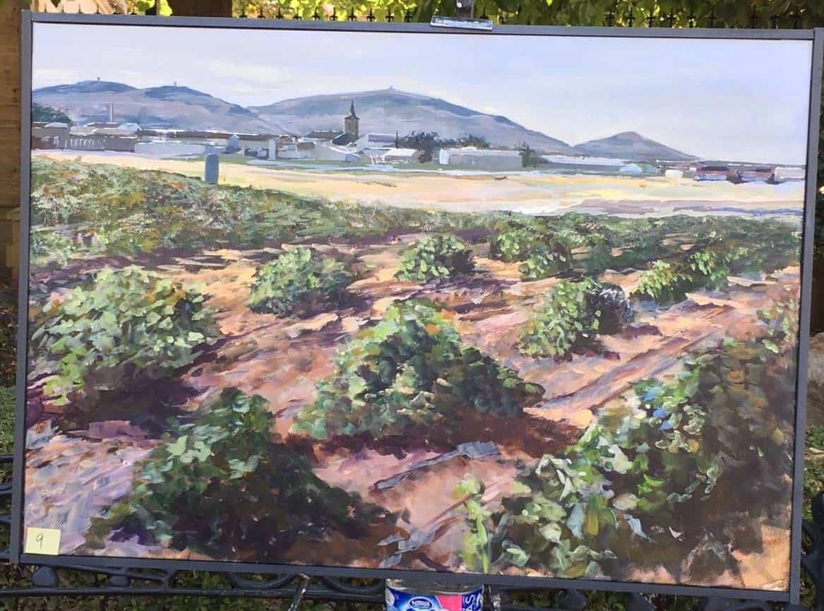 """cuadros partipantes XI pintura rapida herencia 8 - Orencio Murillo ganador del XI Certamen de Pintura Rápida """"Villa de Herencia"""""""