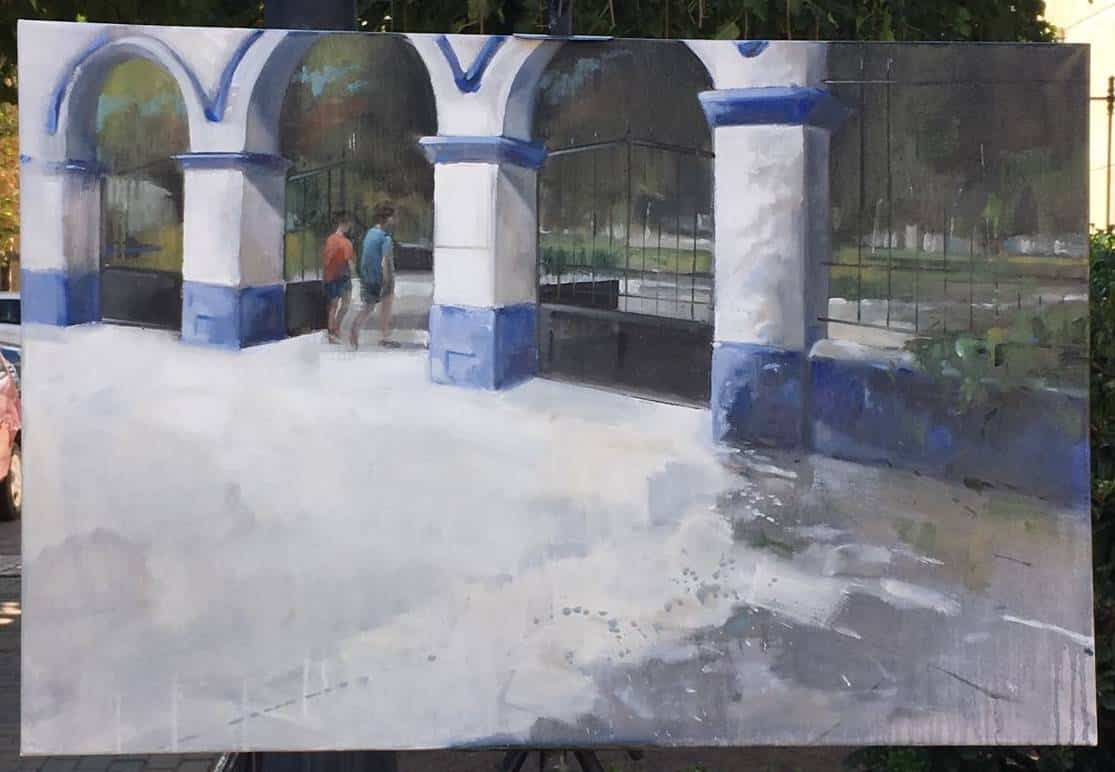 """cuadros partipantes XI pintura rapida herencia 9 - Orencio Murillo ganador del XI Certamen de Pintura Rápida """"Villa de Herencia"""""""