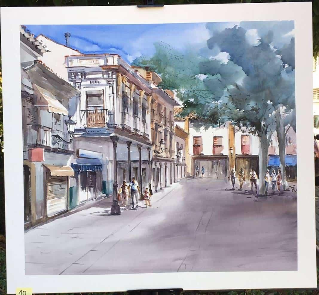 Julio Gómez Mena cuarto premio en XI Certamen de Pintura Rápida de Herencia