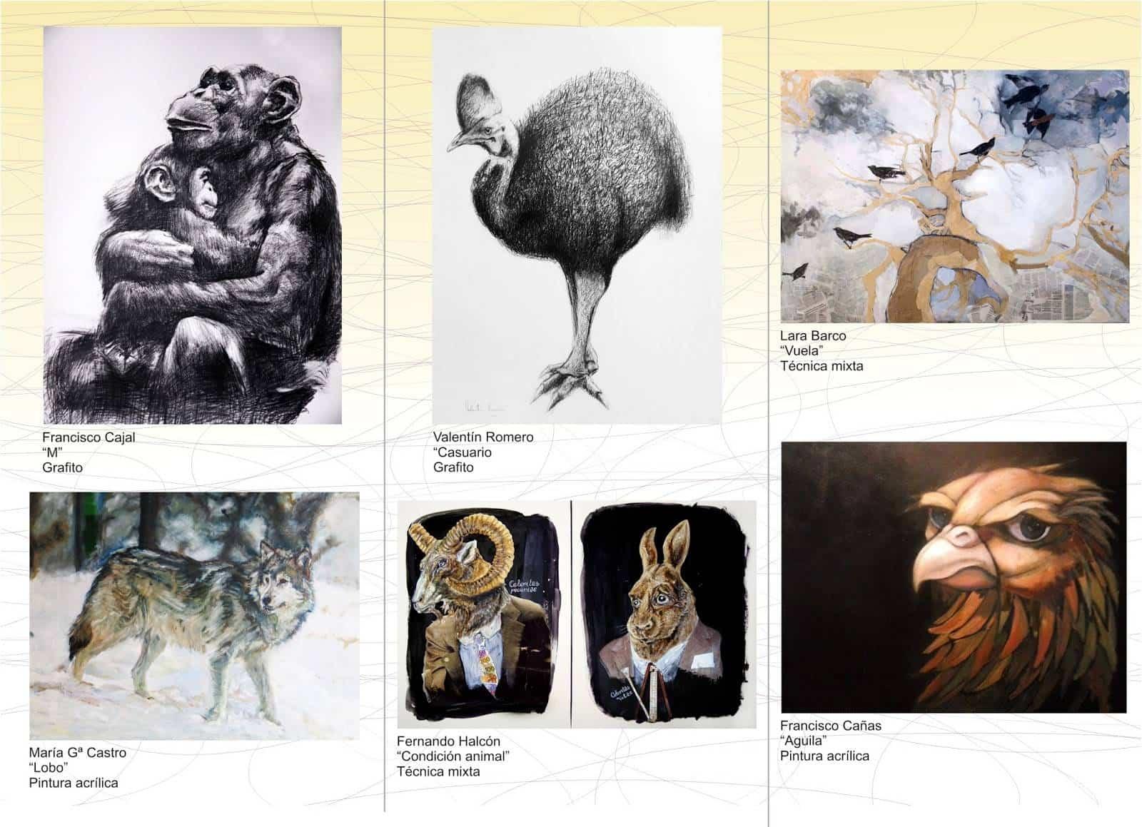 folleto exposicion yo animalb - Francisco Arráez participa en una nueva edición del grupo YO, ANIMAL