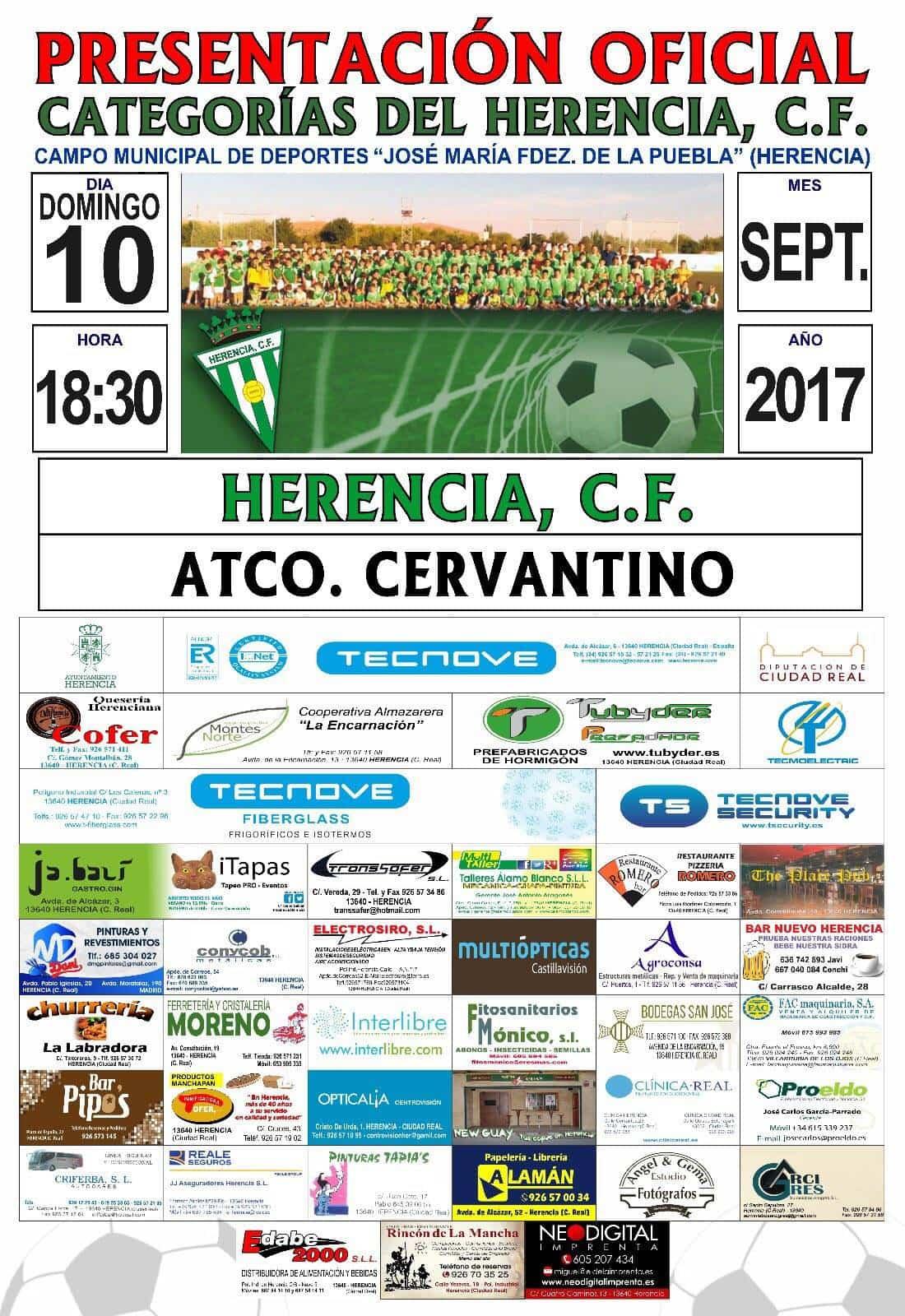 futbol herencia cf atco cervantino - Fútbol: Último partido de pretemporada antes de comenzar la liga