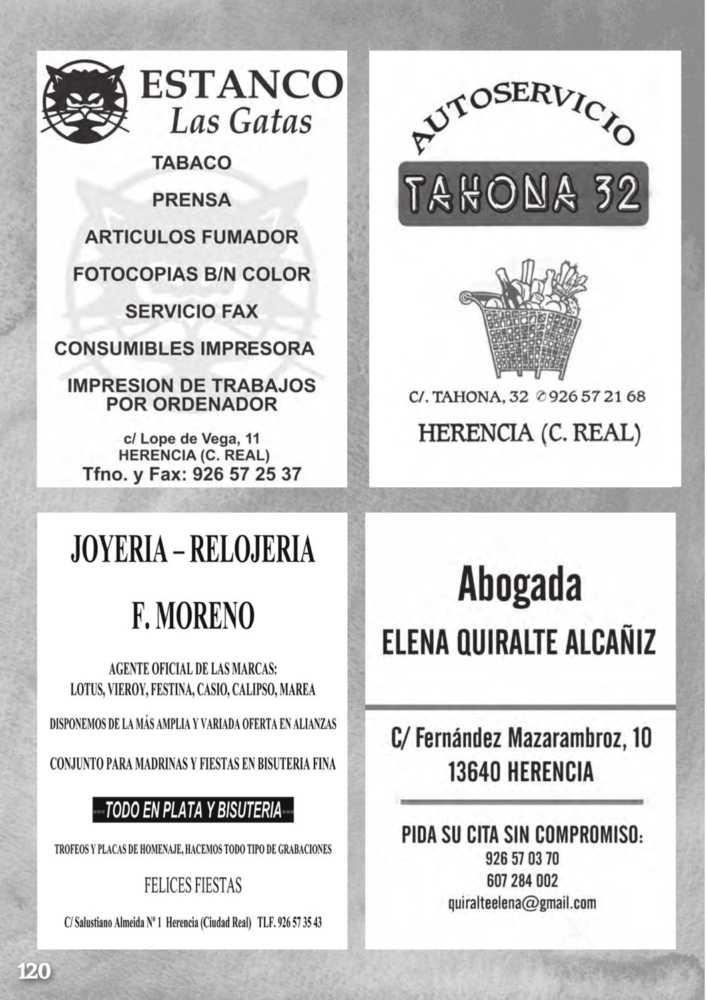 Programa oficial de la Feria y Fiestas de Herencia 2017 124