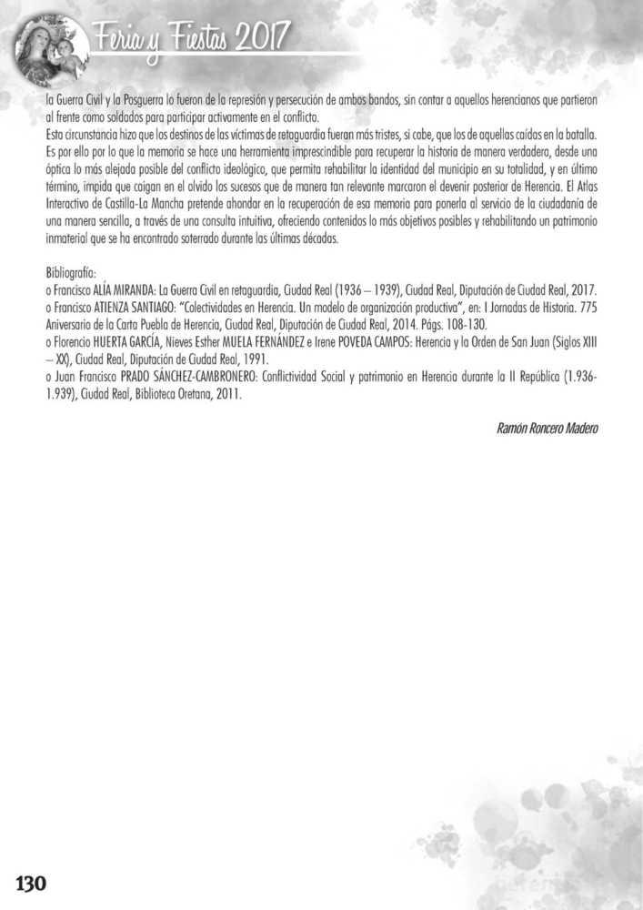 Programa oficial de la Feria y Fiestas de Herencia 2017 134
