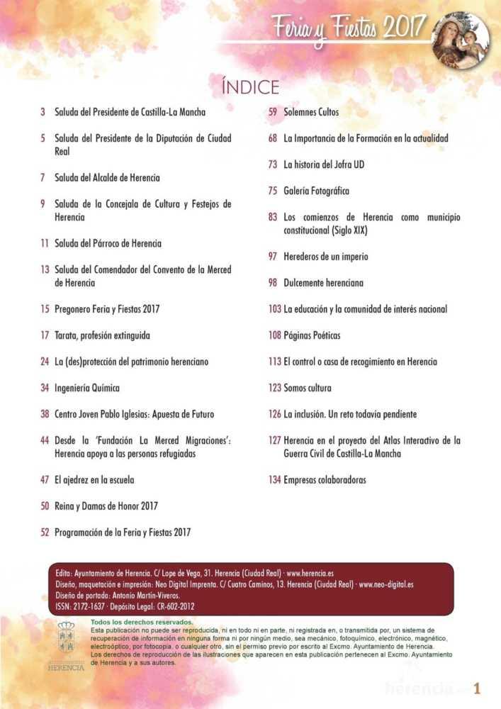 Programa oficial de la Feria y Fiestas de Herencia 2017 5