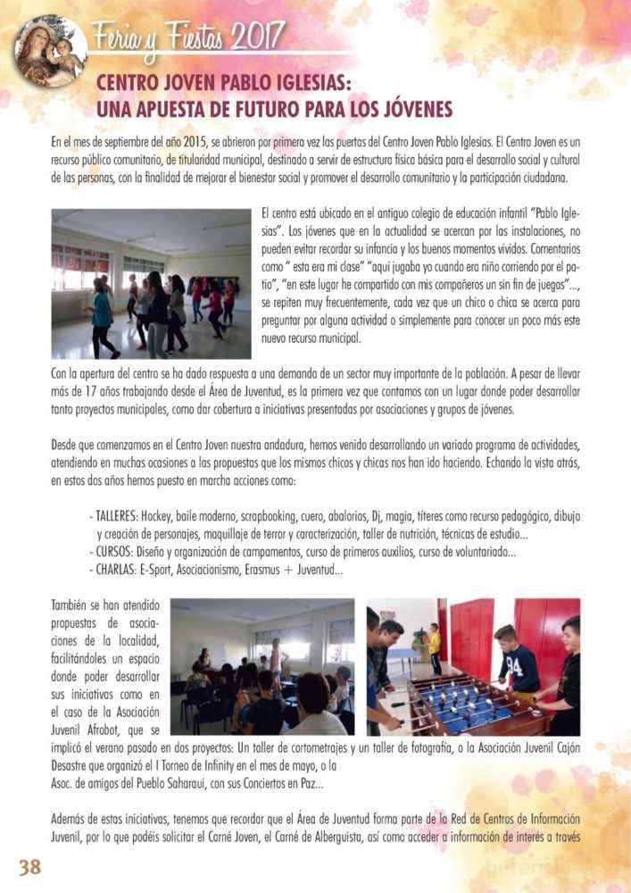 Programa oficial de la Feria y Fiestas de Herencia 2017 42