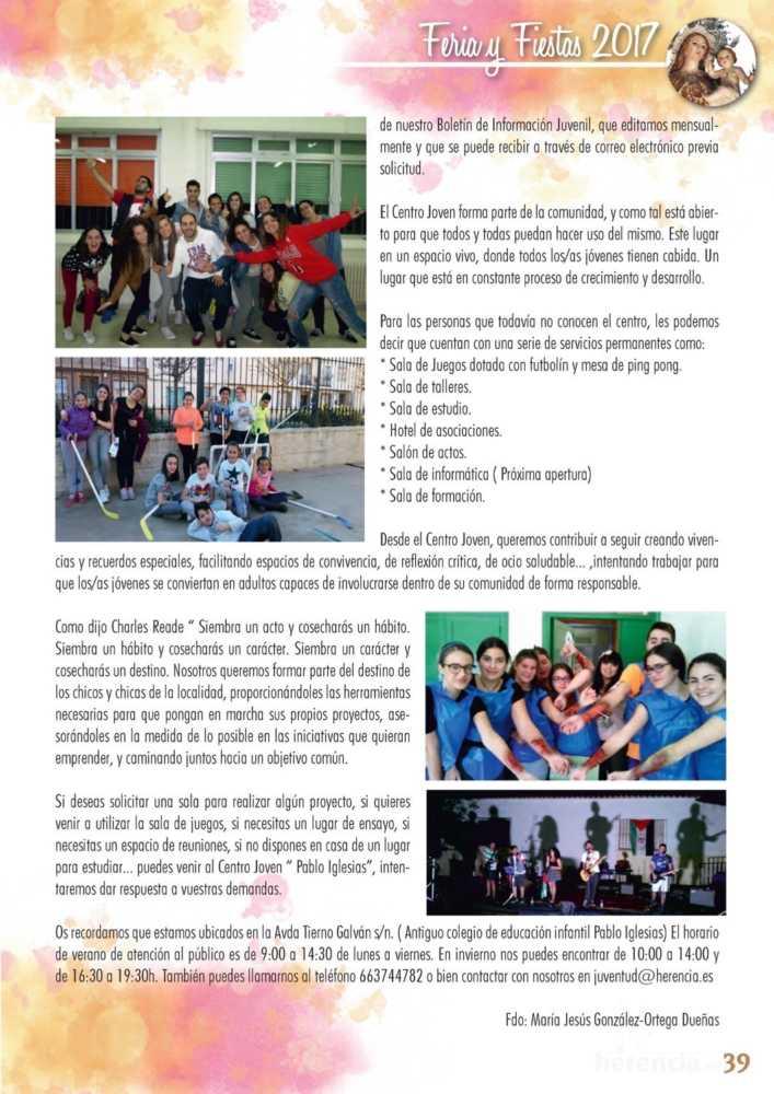 Programa oficial de la Feria y Fiestas de Herencia 2017 43
