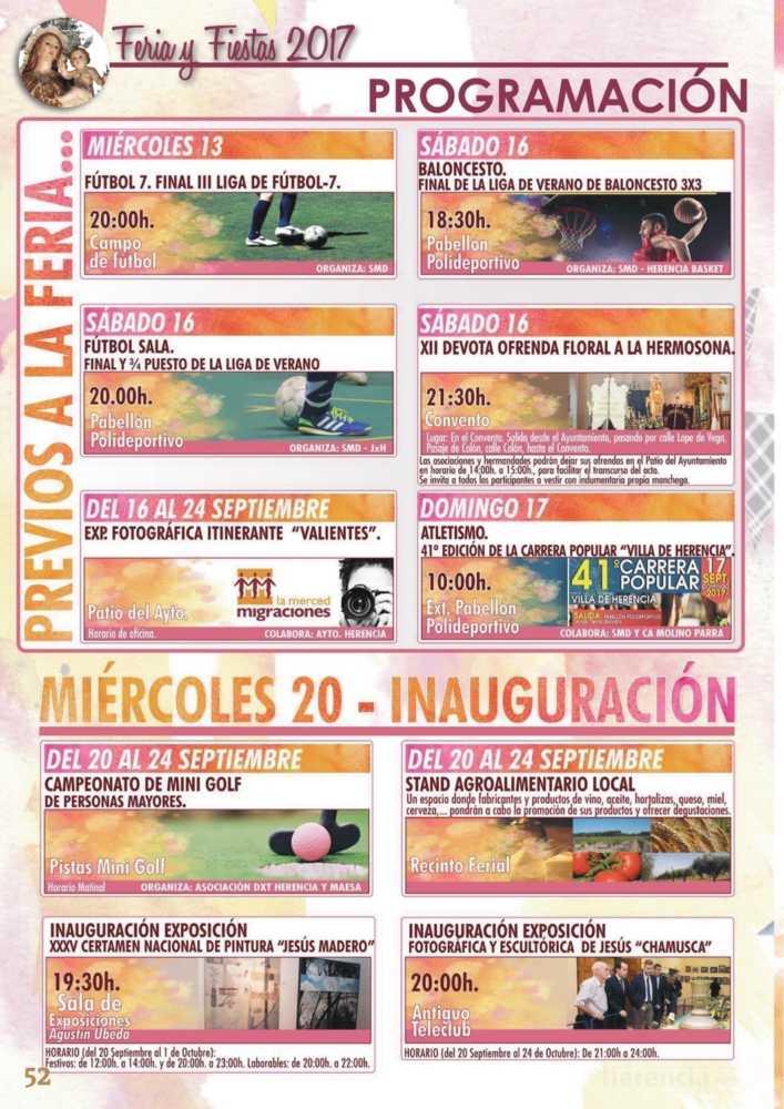 Programa oficial de la Feria y Fiestas de Herencia 2017 56