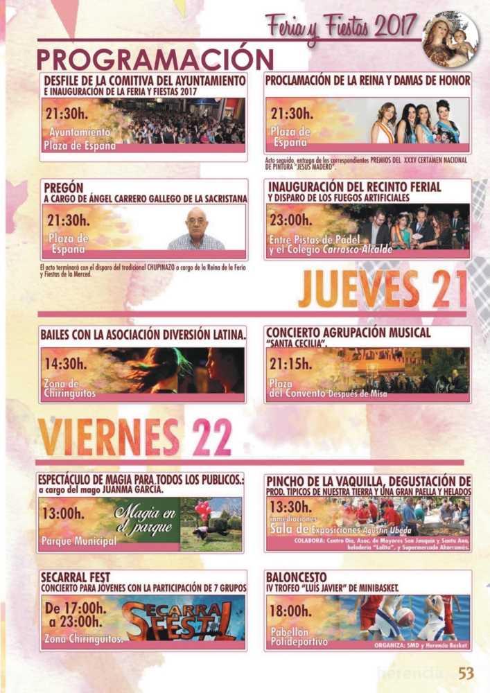 Programa oficial de la Feria y Fiestas de Herencia 2017 57