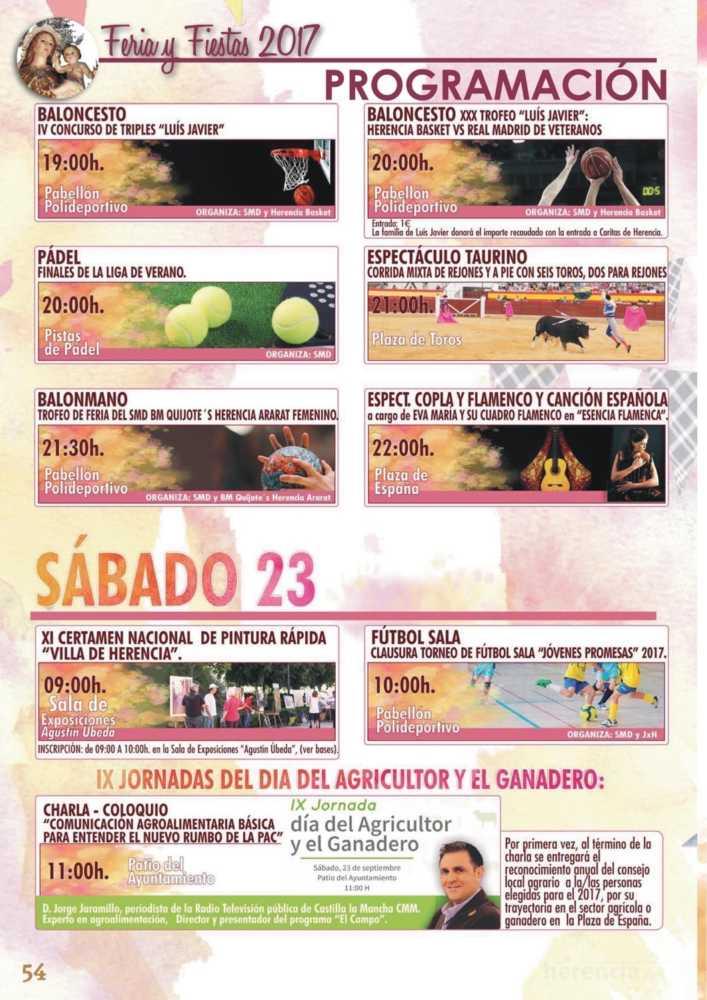 Programa oficial de la Feria y Fiestas de Herencia 2017 58