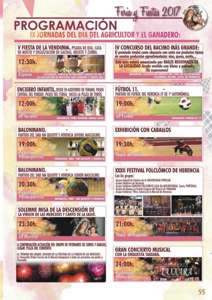 Programa oficial de la Feria y Fiestas de Herencia 2017 59