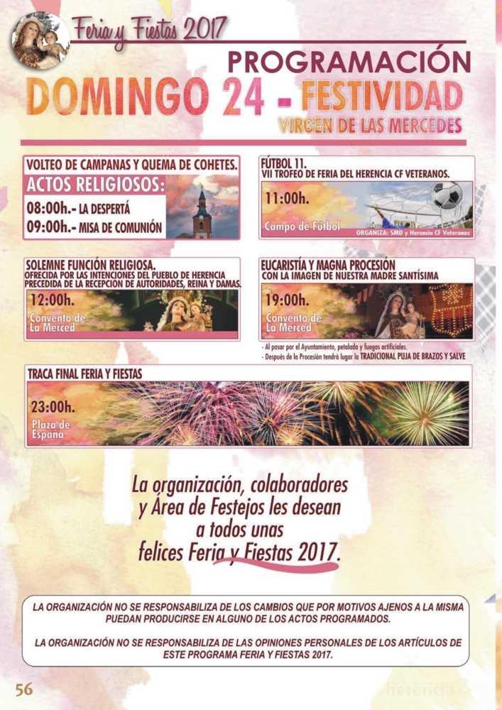 Programa oficial de la Feria y Fiestas de Herencia 2017 60