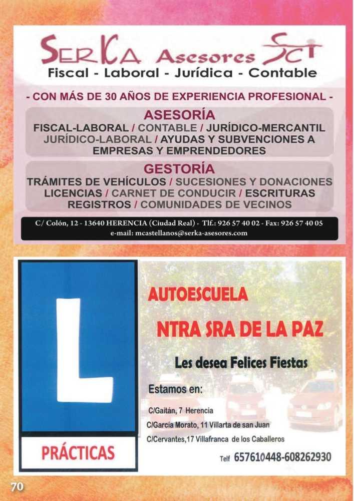 Programa oficial de la Feria y Fiestas de Herencia 2017 74