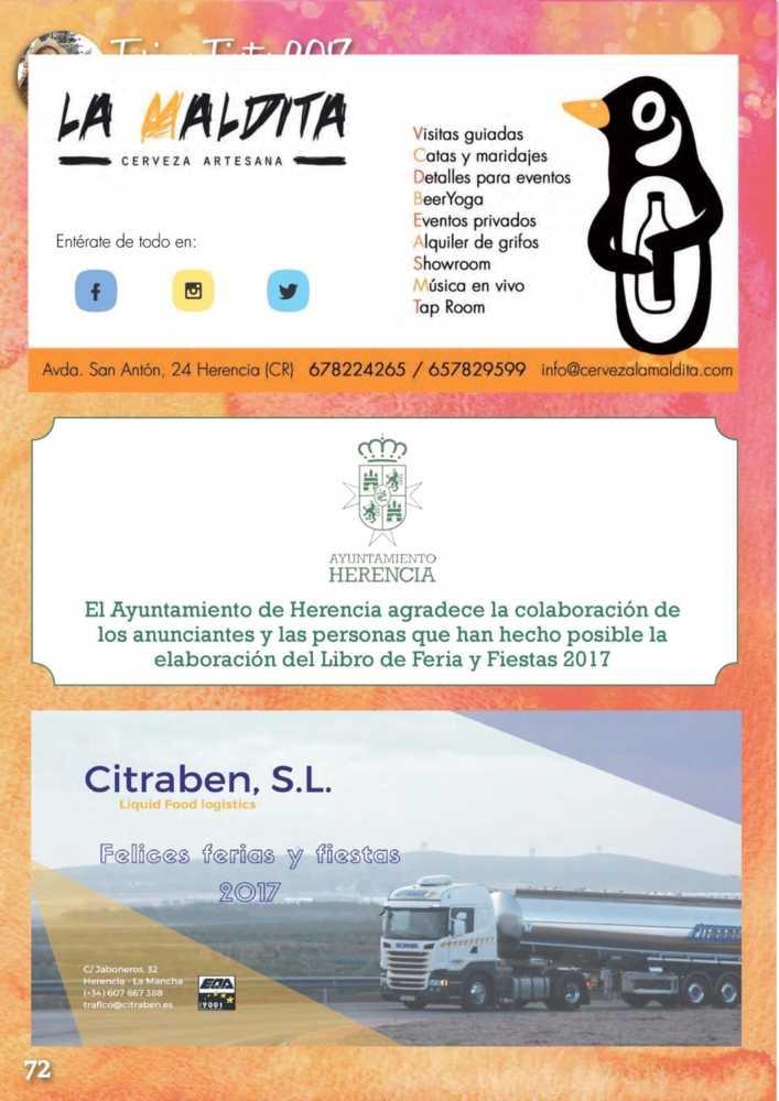 Programa oficial de la Feria y Fiestas de Herencia 2017 76