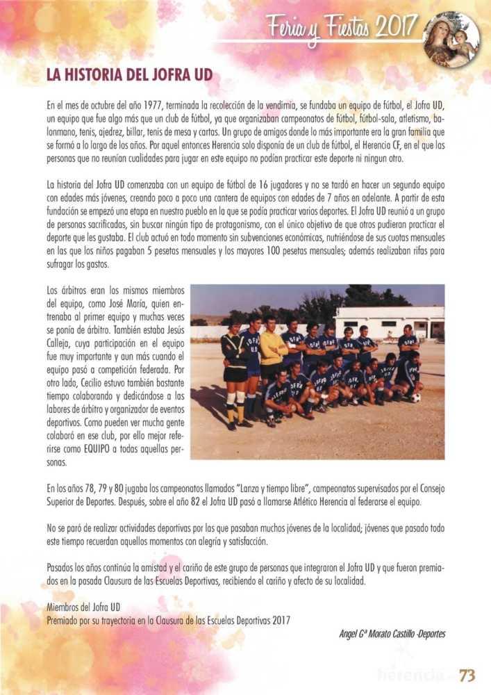 Programa oficial de la Feria y Fiestas de Herencia 2017 77