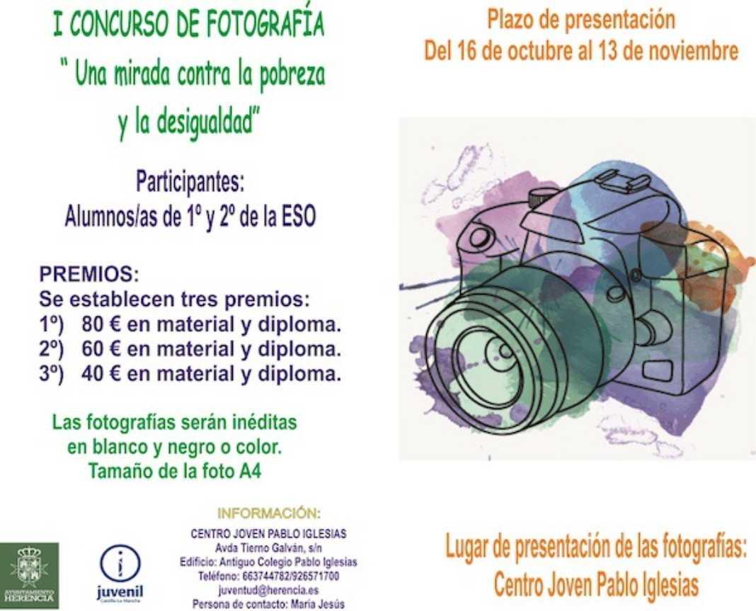 """Cartel Concurso Fotográfico 1068x863 - Concurso de fotografía """"Una mirada contra la pobreza y desigualdad"""""""
