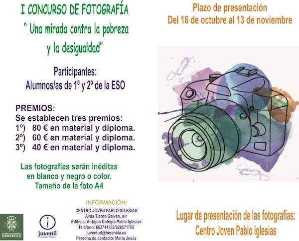 """Cartel Concurso Fotogr%C3%A1fico - Concurso de fotografía """"Una mirada contra la pobreza y desigualdad"""""""