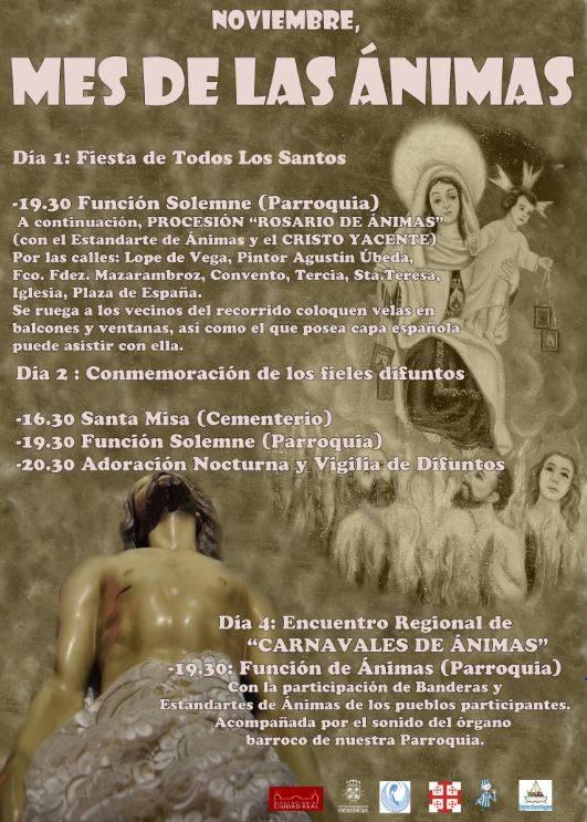 Cartel Rosario de Ánimas - El Cristo Yacente saldrá a la calle en Rosario de Ánimas