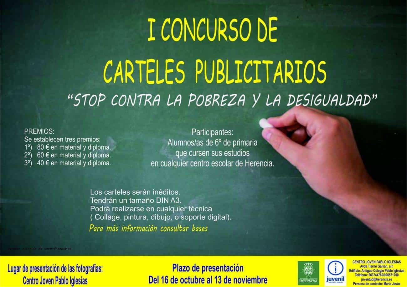 """Cartel concurso carteles 1 1300x917 - Concurso de carteles """"Stop contra la pobreza"""""""