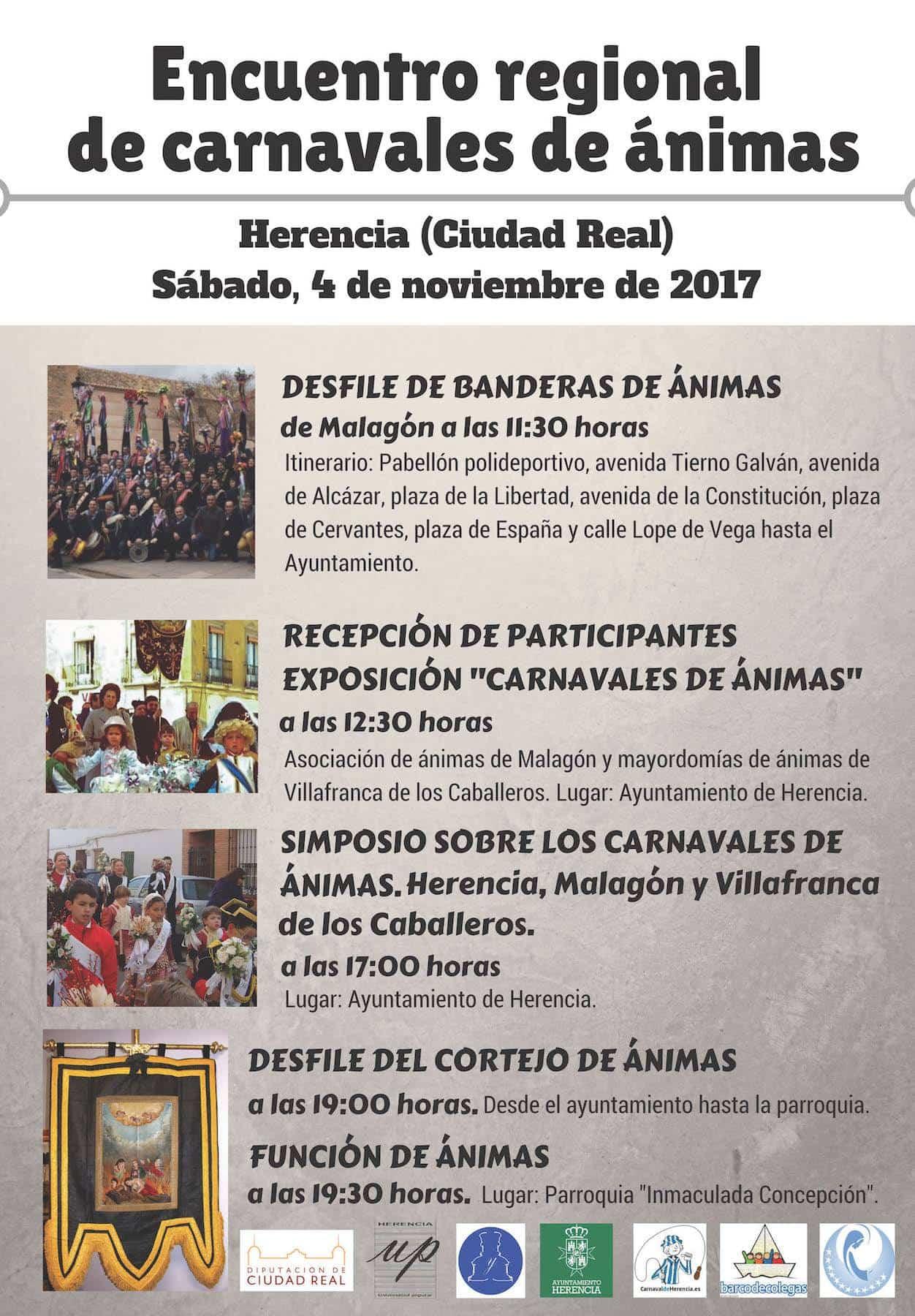 Cartel encuentro carnavales Animas - Encuentro regional de Carnavales de Ánimas este sábado en Herencia