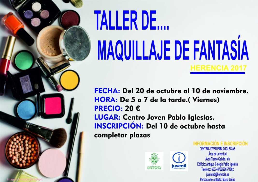 Cartel taller maquillaje 1300x919 1 1068x755 - Juventud organiza un taller de maquillaje de fantasía