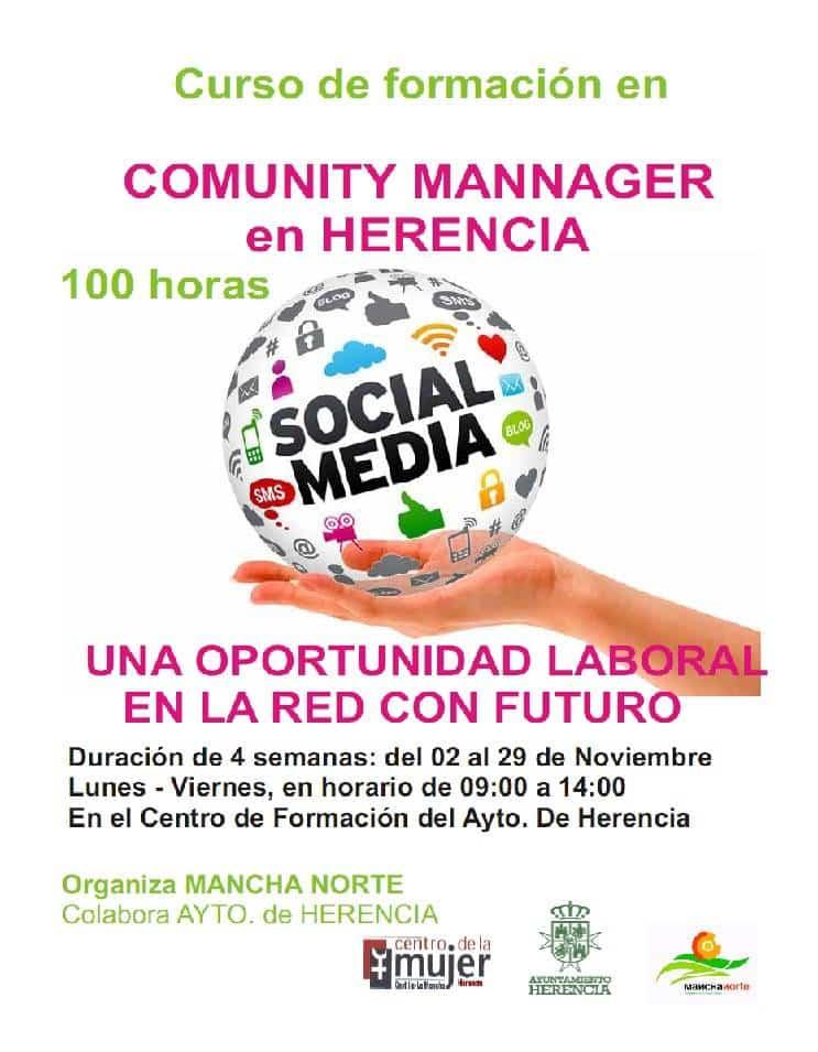 Curso Comunity Mannager - Mancha Norte organiza un curso de Community Manager en Herencia