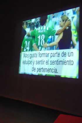Patricia Ramírez, psicóloga deportiva, dio una conferencia en Herencia 12