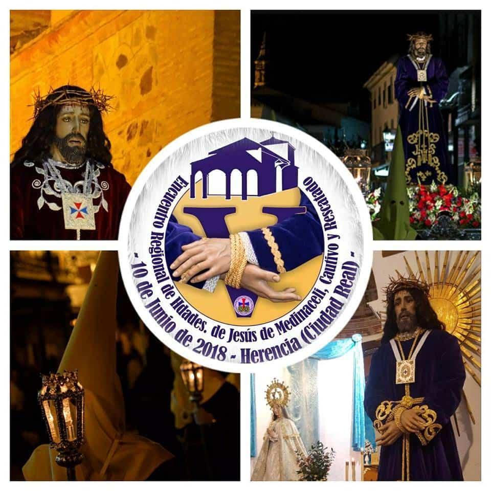 Logotipo del V Encuentro Regional de Hermandades de Jesus de Medinaceli - Herencia acogerá el V Encuentro Regional de Hermandades de Jesús de Medinaceli