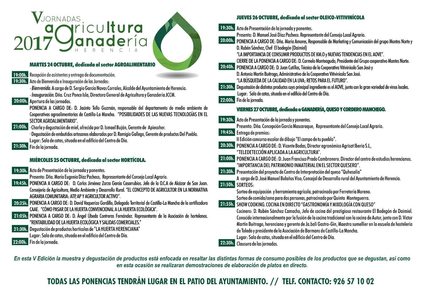 V Jornadas de Agricultura y Ganadería de Herencia programa - V Jornadas de Agricultura y Ganadería de Herencia