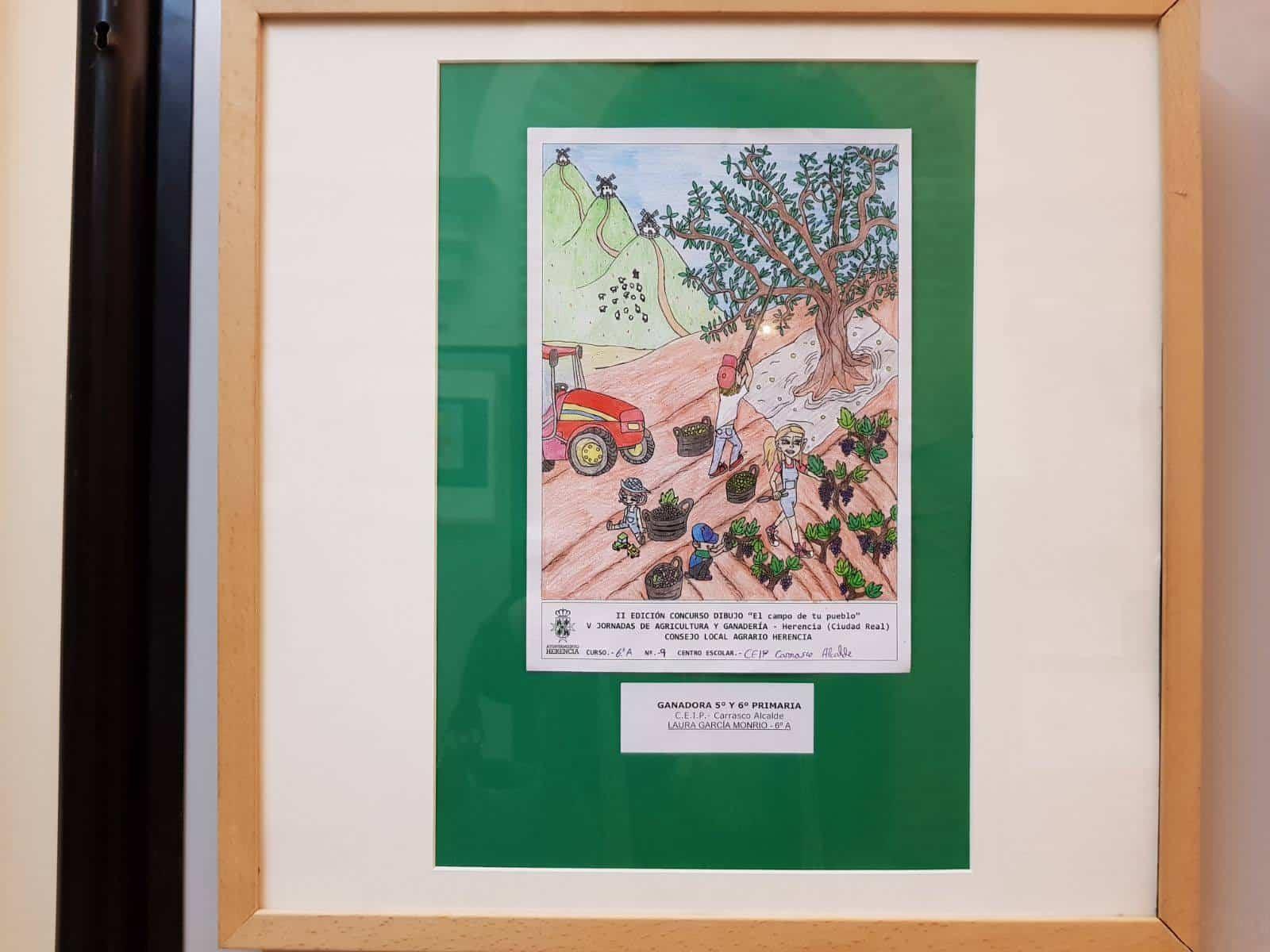 """el campo de tu pueblo herencia 1 - Premios del concurso local de dibujo """"El Campo de tu pueblo"""""""