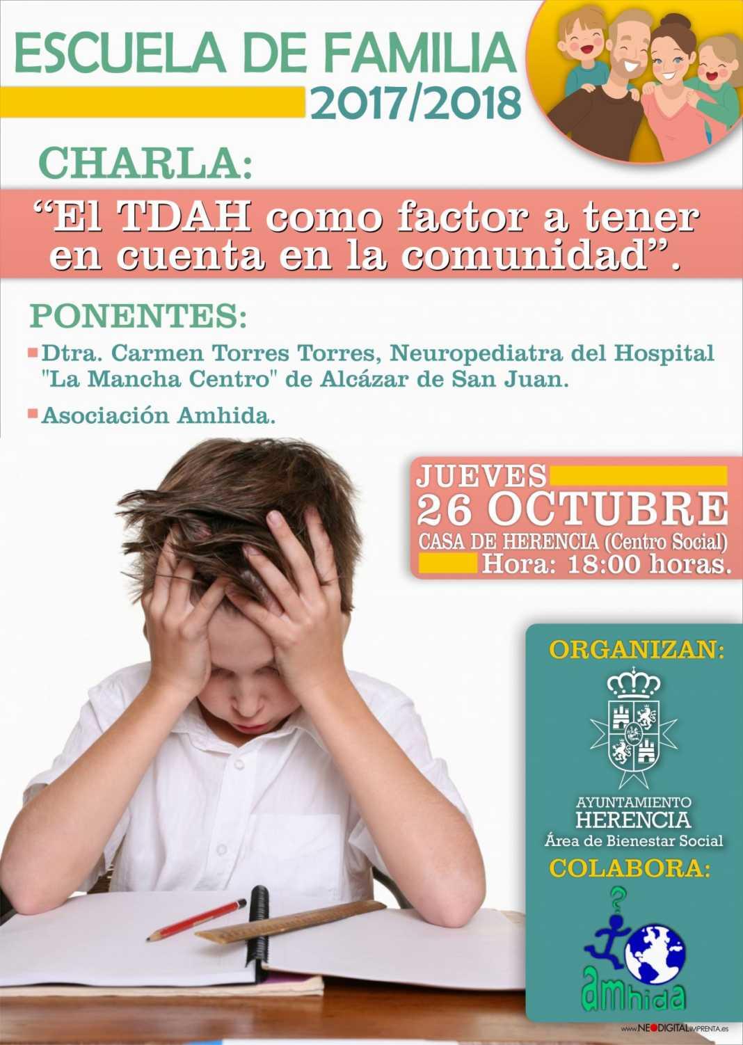 escuela de familia tdah 1068x1502 - La Escuela de Familia inicia su temporada con una charla sobre TDAH