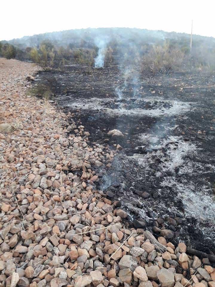 """incendio en sierra el bombo de Herencia 1 - Fotografías del incendio en la Sierra """"El Bombo"""" de Herencia"""