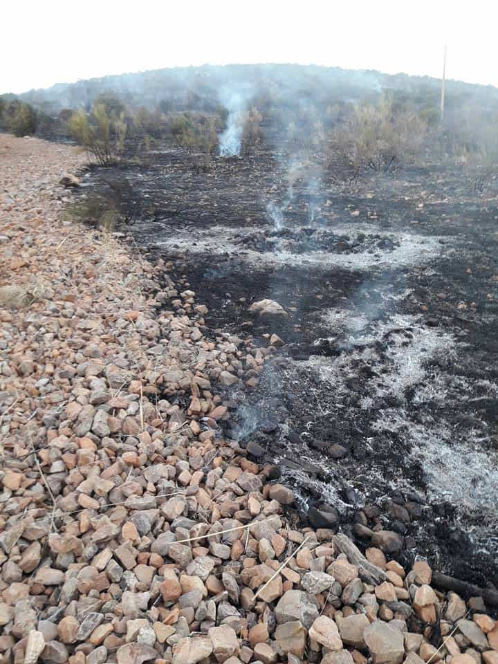 """Fotografías del incendio en la Sierra """"El Bombo"""" de Herencia 21"""