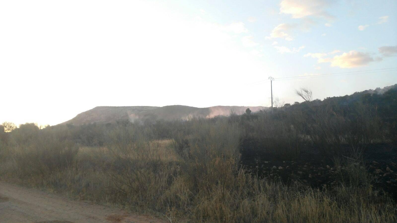 """Incendio Sierra """"El Bombo"""" en Herencia (Ciudad Real)"""