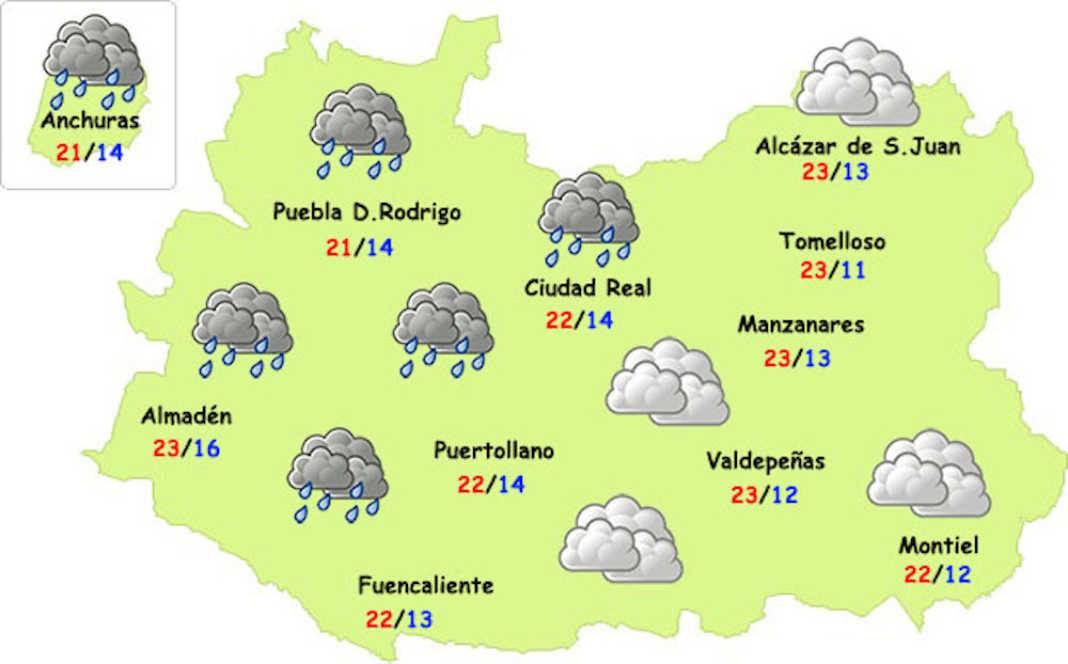 lluvias en octubre 2017 en ciudad real 1068x664 - La lluvia llegará a la provincia y esperamos que también a Herencia
