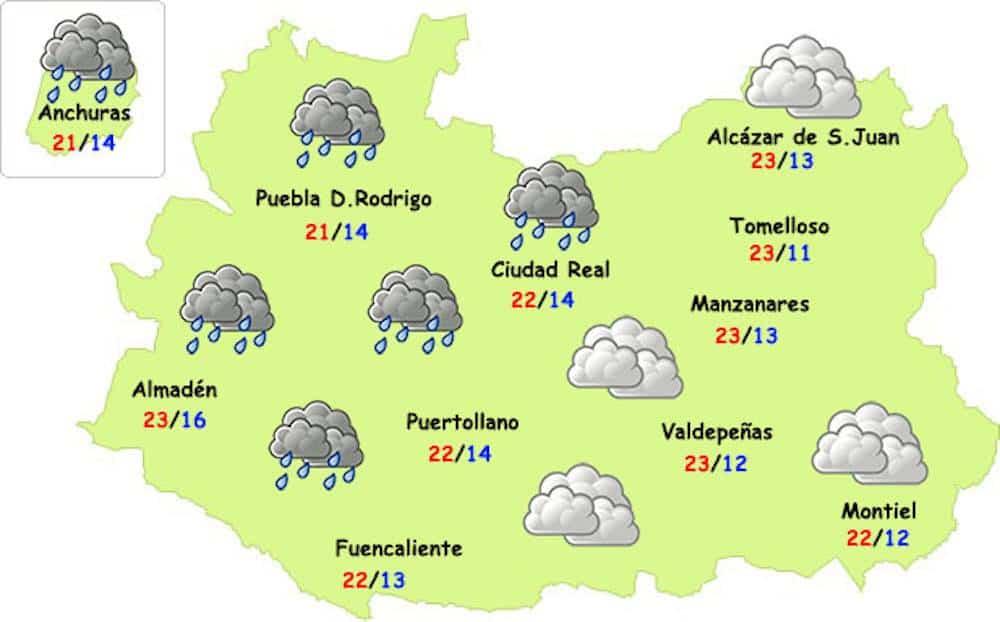 lluvias en octubre 2017 en ciudad real - La lluvia llegará a la provincia y esperamos que también a Herencia