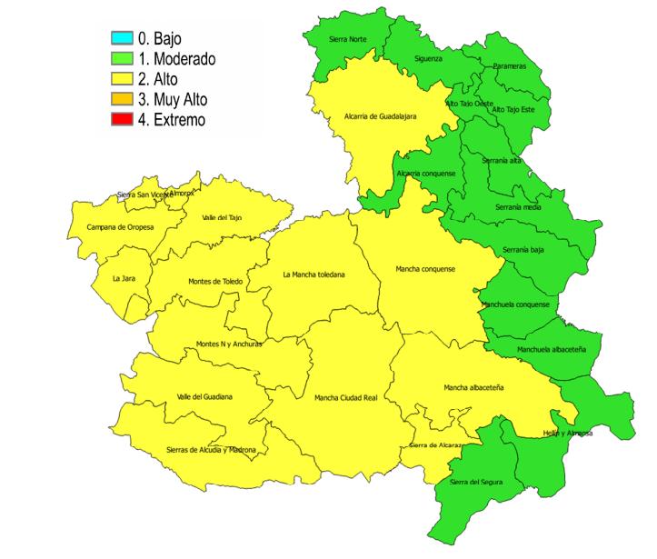 """mapa riesgos indencios 3 octubre 2017 - Controlado el incendio en la Sierra """"El Bombo"""" de Herencia (Ciudad Real)"""