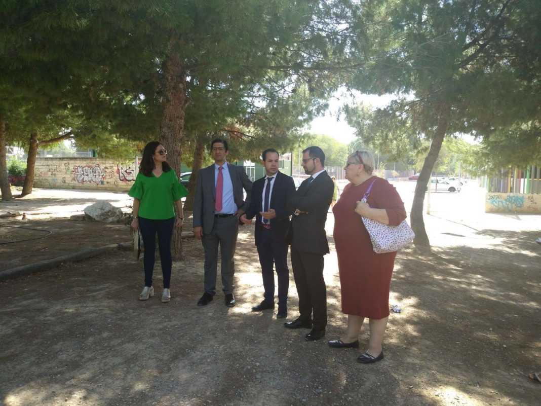 Visita autoridades a obras del Parque de La Serna