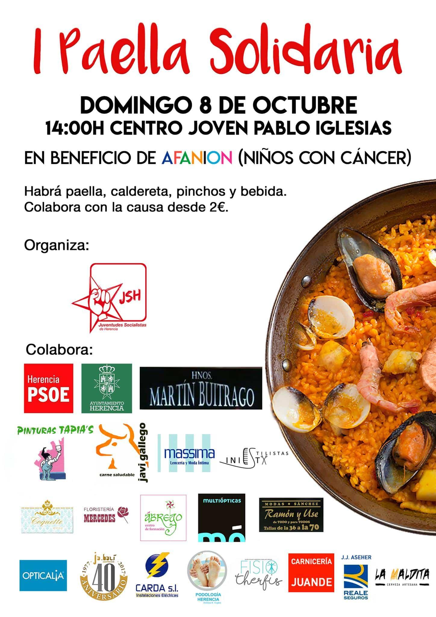 paella solidaria 2017 herencia - I Paella Solidaria en beneficio de Afanion