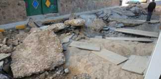 Obras de semipeatonalización calle Francisco Fernández Mazarambroz en Herencia