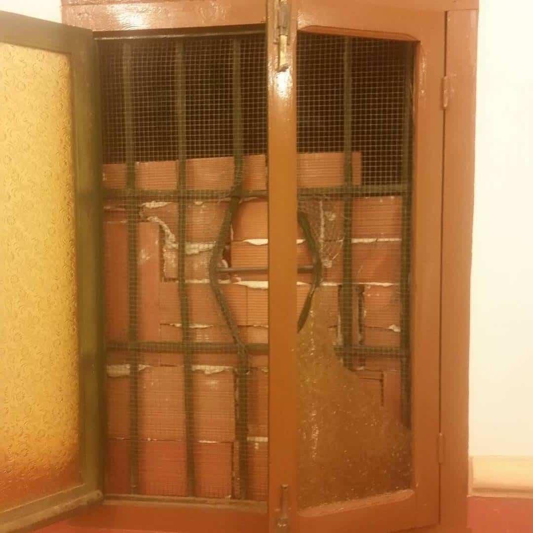 ventana por la que entraron - La ermita de San José sufre un robo durante la madrugada del lunes