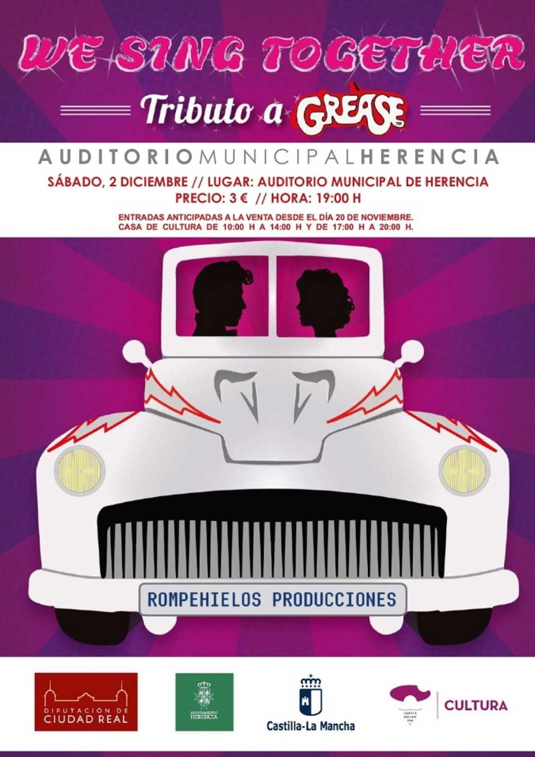 CARTEL GREASE 1068x1511 - La final de la XXVII Muestra Provincial de Teatro será en Herencia