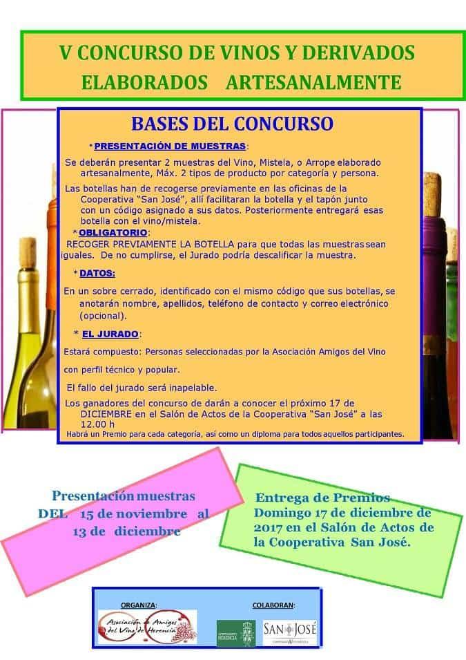 CONCURSO DE VINOS 2017 Herencia - V Concurso de vinos y derivados elaborados artesanalmente