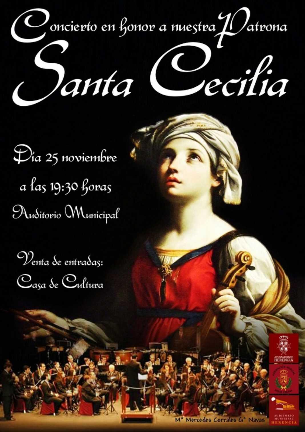 Cartel Sta Cecilia 2017 1068x1513 - Actos de la Banda de Música en homenaje a Santa Cecilia