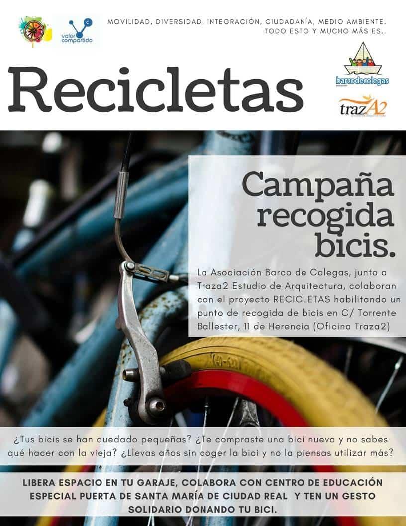 Herencia Recicleta Dona bici - Campaña de recogida de bicis para el proyecto RECICLETAS