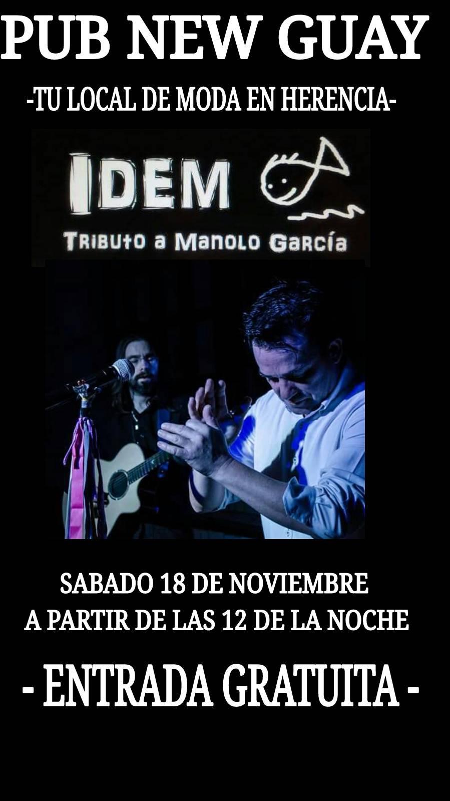IDEM tributo a Manolo Garc%C3%ADa - Tributo a Manolo García el disco-pub New Guay