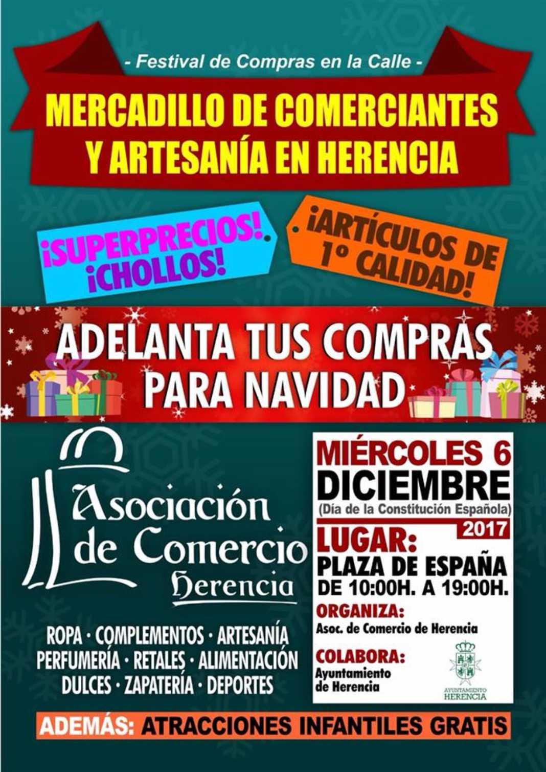 Mercadillo de comerciantes y artesanía en Herencia 7