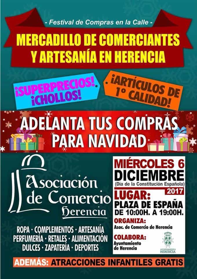 Mercadillo de comerciantes y artesanía en Herencia 5
