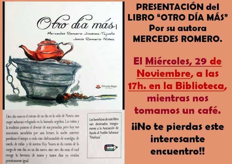 Presentacion Otro Dia Mas en Carrizosa - Continúa la presentación del libro 'Otro día más'