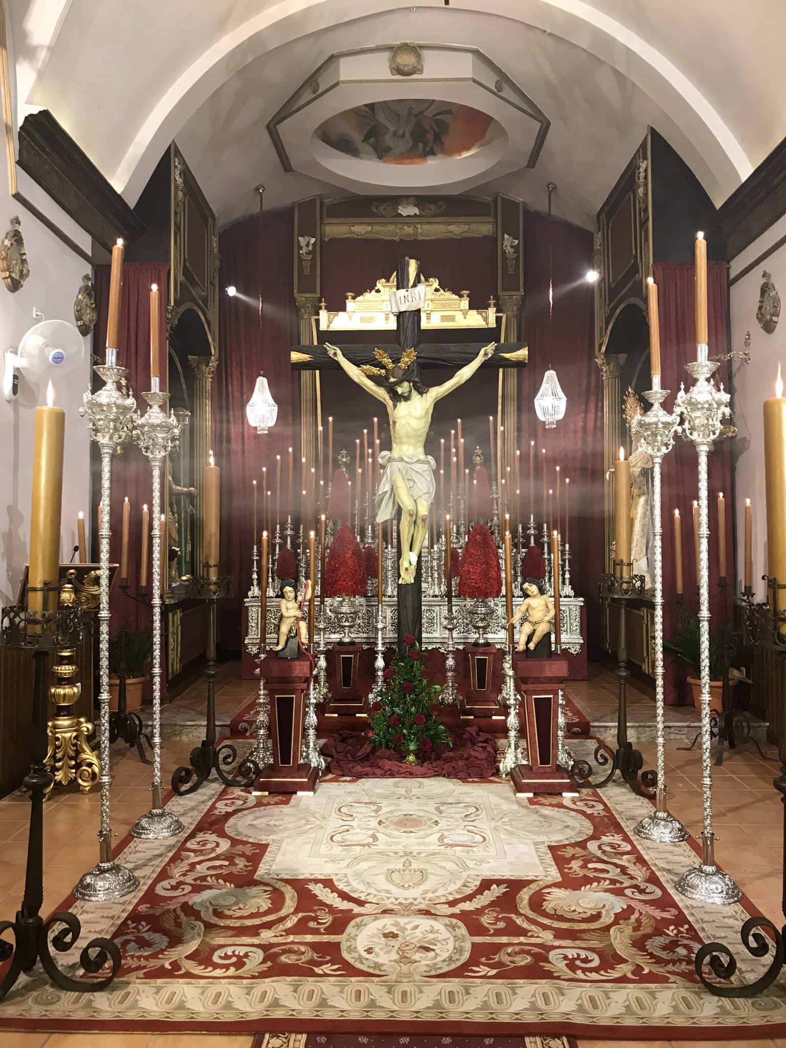 besapie al Cristo de los Afligidos Herencia 2017  - Besapié en honor al Cristo de los Afligidos