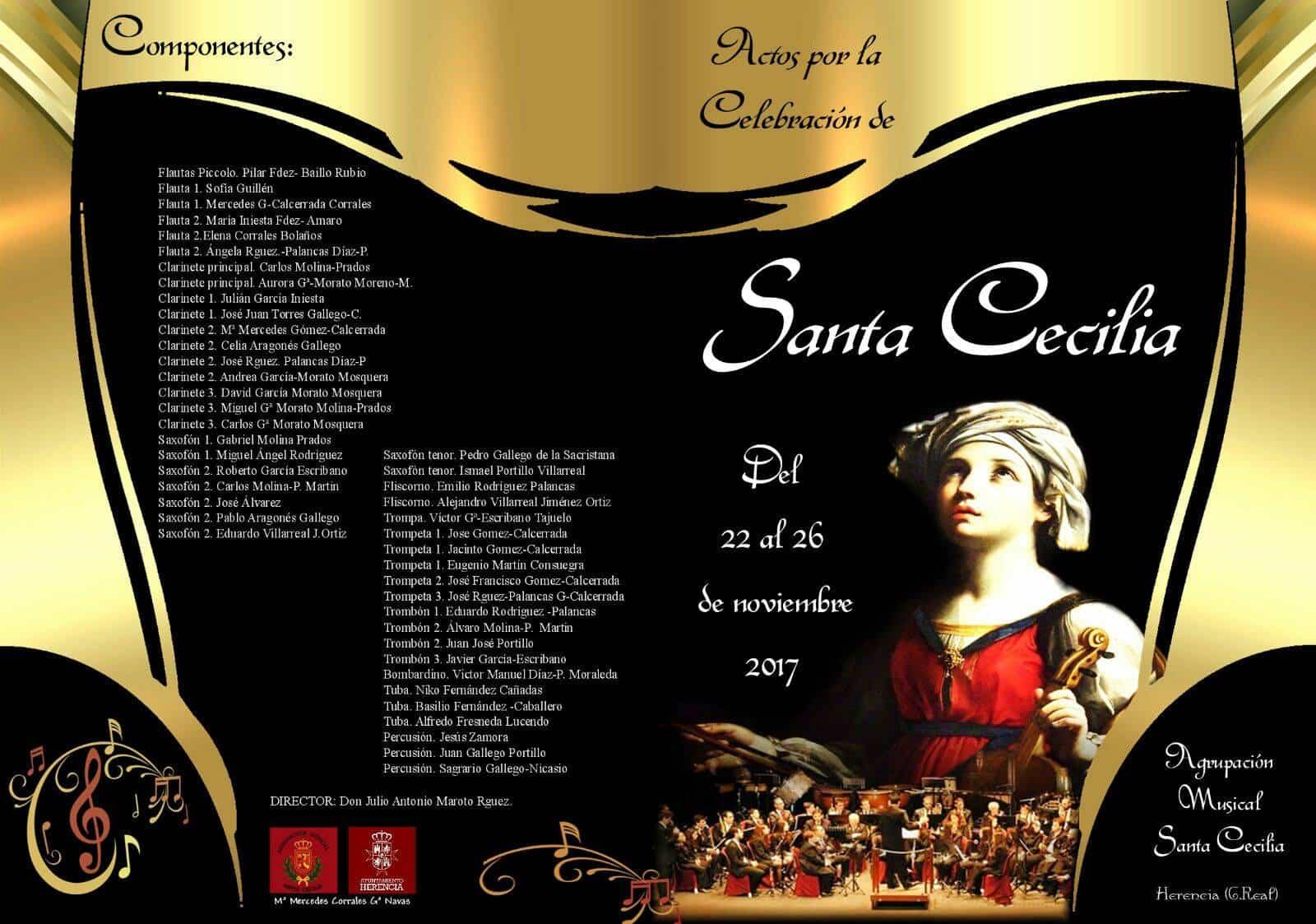 componentes de la agrupacion musical santa cecilia de herencia 2017 - Actos de la Banda de Música en homenaje a Santa Cecilia